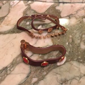 Juicy Couture Jewelry - Juicy Couture leather bracelet set